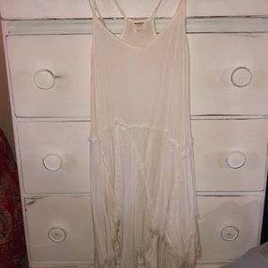 White distressed Free People dress